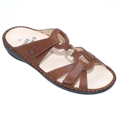 Finn Comfort Cebu Leather Soft Footbed Cognac