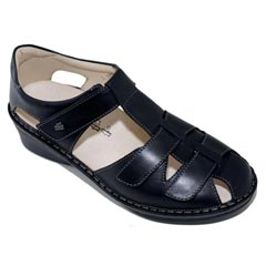 Finn Comfort Funen Leather Black Sandals