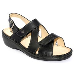 Finn Comfort Jalta Leather Soft Footbed Black