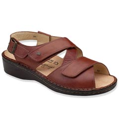 Finn Comfort Jersey Leather Soft Footbed Brandy