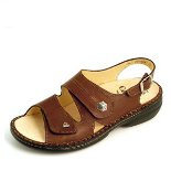 Finn Comfort Milos Leather Soft Footbed Coffee