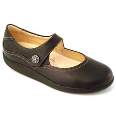 Finn Comfort Salo Leather Soft Footbed Black