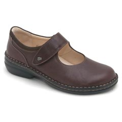 FINN COMFORT SONOMA LEATHER SOFT FOOTBED EBONY