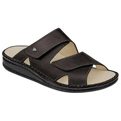 Finn Comfort Danzig Leather Soft Footbed Black Sandals