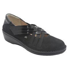 Finn Comfort Evanston Nubuck Black Shoes