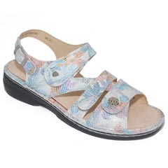 Finn Comfort Gomera Leather Soft Footbed Bianco Sandals