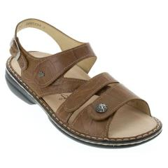Finn Comfort Gomera Leather Soft Footbed Cognac