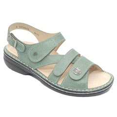 Finn Comfort Gomera Leather Soft Footbed Mint Sandals