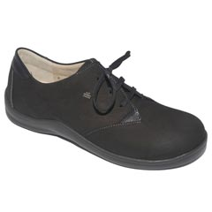 Finn Comfort Harrow Leather Black Shoes