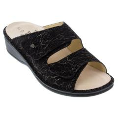 Finn Comfort Jamaica Leather Sof Footbed Anthracite Sandals