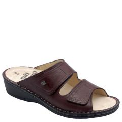 Finn Comfort Jamaica Leather Soft Footbed Berry Sandals