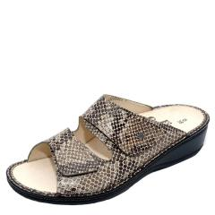 Finn Comfort Jamaica Leather Soft Footbed Cappuccino Sandals