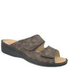 Finn Comfort Jamaica Leather Soft Footbed Ebony Sandals
