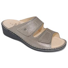 Finn Comfort Jamaica Leather Soft Footbed Fango Sandals