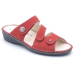 Finn Comfort Lazise Nubuck Red Sandals
