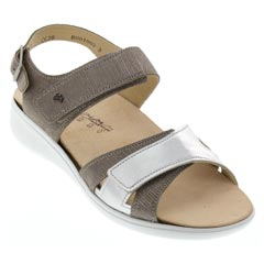 Finn Comfort Nadi Leather Silver Sandals