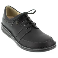 Finn Comfort Norwich Leather Black Shoes