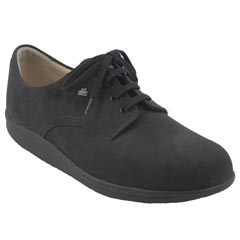 Finn Comfort Princeton Nubuck Black Shoes