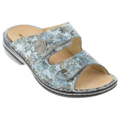 Finn Comfort Sansibar Leather Aqua Sandals