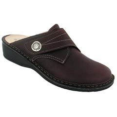 Finn Comfort Santa Fe Leather Soft Footbed Bordo Algave Clogs