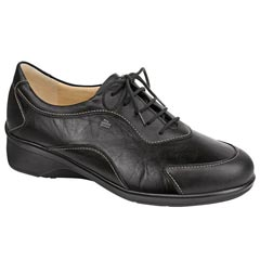 Finn Comfort Savannah Leather Black Shoes