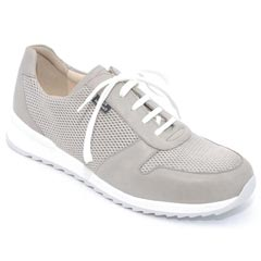 Finn Comfort Sidonia Leather Grey Shoes