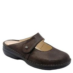 Finn Comfort Stanford Leather Kaffee Clogs