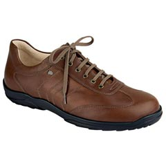 Finn Comfort Syracuse Leather Teak Shoes