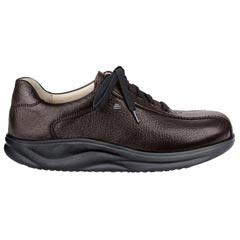 Finn Comfort Watford Leather Soft Footbed Teak Shoes