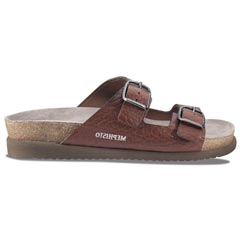 Mephisto Harmony Full Grain Leather Tan Sandals