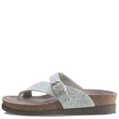 Mephisto Helen Nairobi Leather Silver Sandals