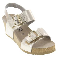 Mephisto Lissandra Leather Platinum Sandals