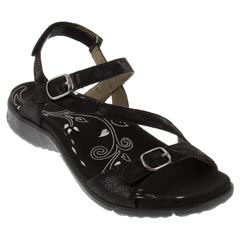 Taos Beauty Leather Black Sandals