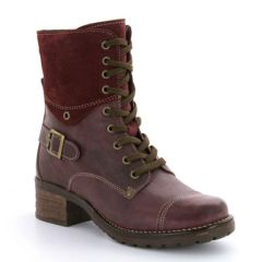 Taos Crave Leather Violet Boots