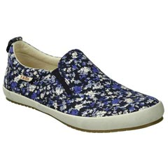 Taos Dandy Canvas Navy Floral Shoes