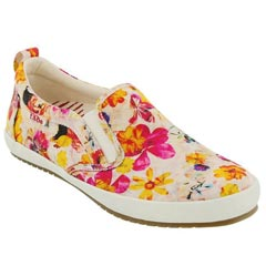 Taos Dandy Canvas White Floral Shoes