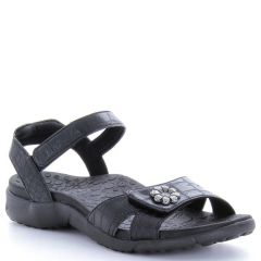 Taos Duet Synthetic Black Sandals