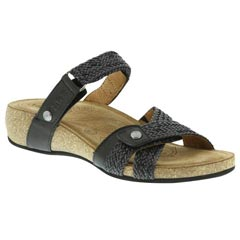 Taos Fabulous Leather Black Sandals