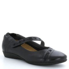 Taos Grace Leather Black Shoes