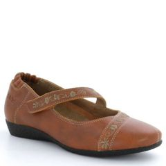 Taos Grace Leather Burnt Orange Shoes