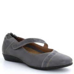 Taos Grace Leather Grey Shoes