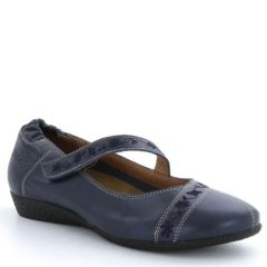 Taos Grace Leather Navy Shoes