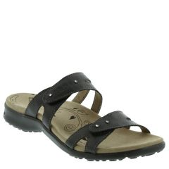 Taos Journey Leather Black Sandals