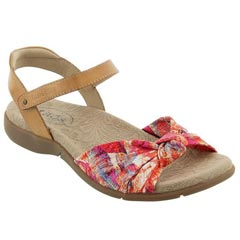 Taos Knotty Textile Coral Multi Sandals