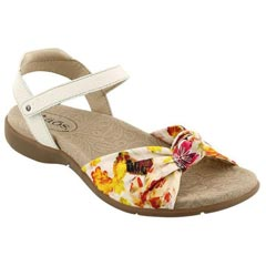 Taos Knotty Textile White Sandals