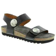 Taos Luckie Leather Black Sandals