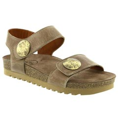 Taos Luckie Leather Taupe Sandals