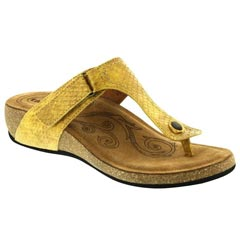 Taos Lucy Leather Yellow Sandals