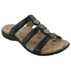 Taos Prize 3 Leather Black Sandals