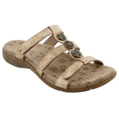 Taos Prize 3 Leather Gold Sandals